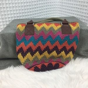 The Sak Knitted Chevron Pattern Purse